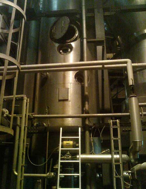 Falling film evaporator at swedish exergy